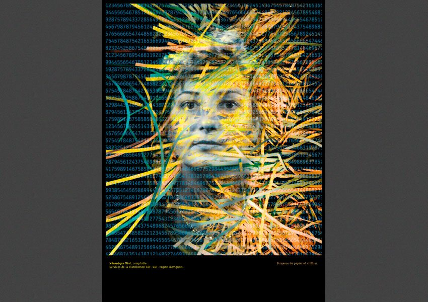 Vérinique Vial, Identité / Activité, autoportraits d'agents EDF, 199l