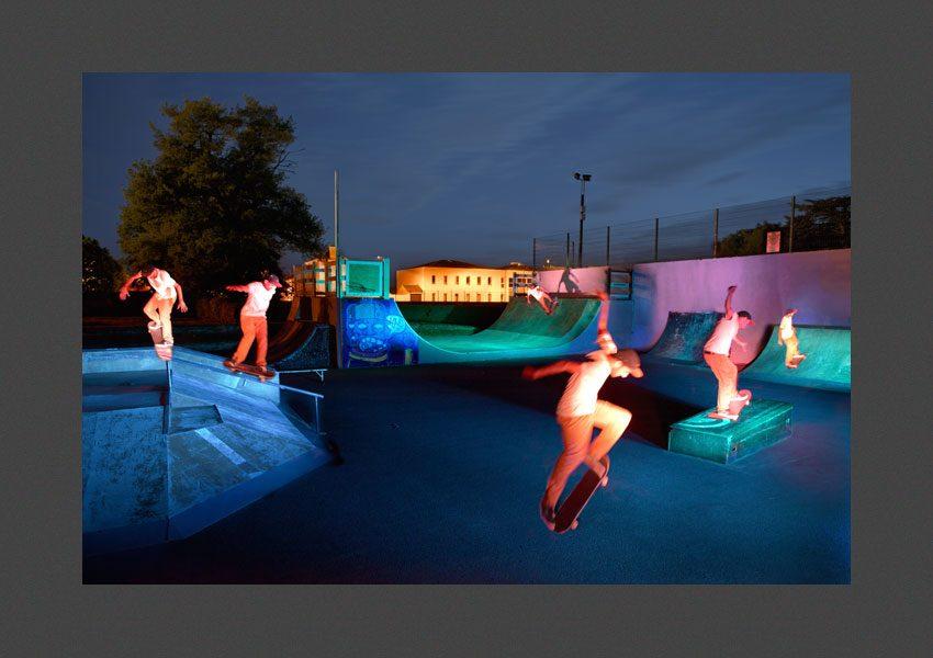 Bressuire, la piste de skate board.