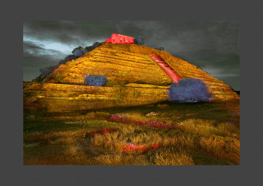 Pyramide de Gran Cué, Querétaro, Mexique, 2014