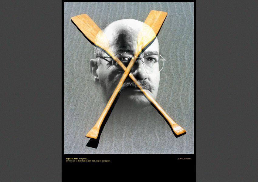 Raphaël Mora, Identité / Activité, autoportraits d'agents EDF, 199l