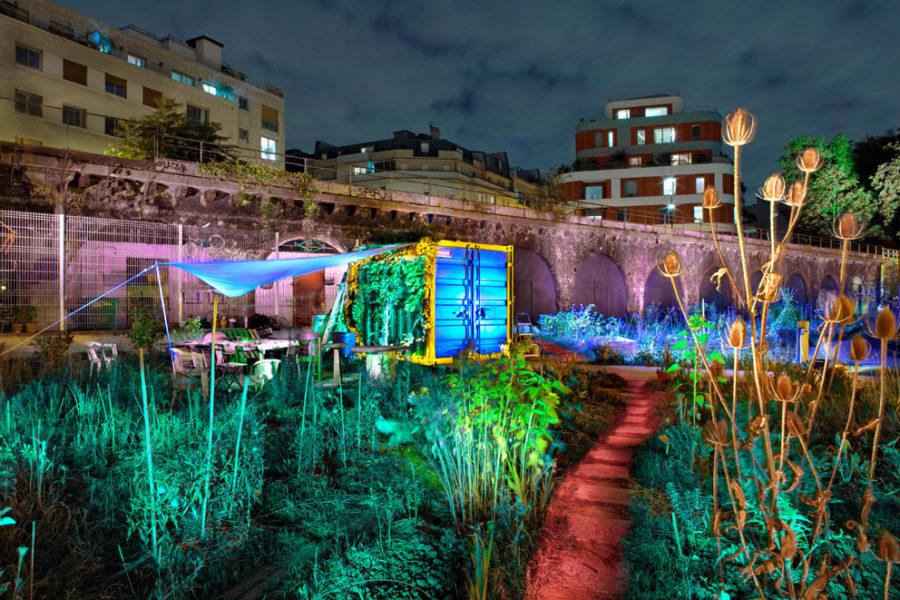 Jardins partagés « charmante, petite campagne urbaine », Paris 19°, 2018